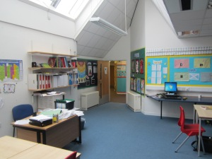 This is our classroom, where we come up with our ideas, write our scripts and plan our productions. This is where we have filmed 'Operation 100% X', our answer to Exercise 2.